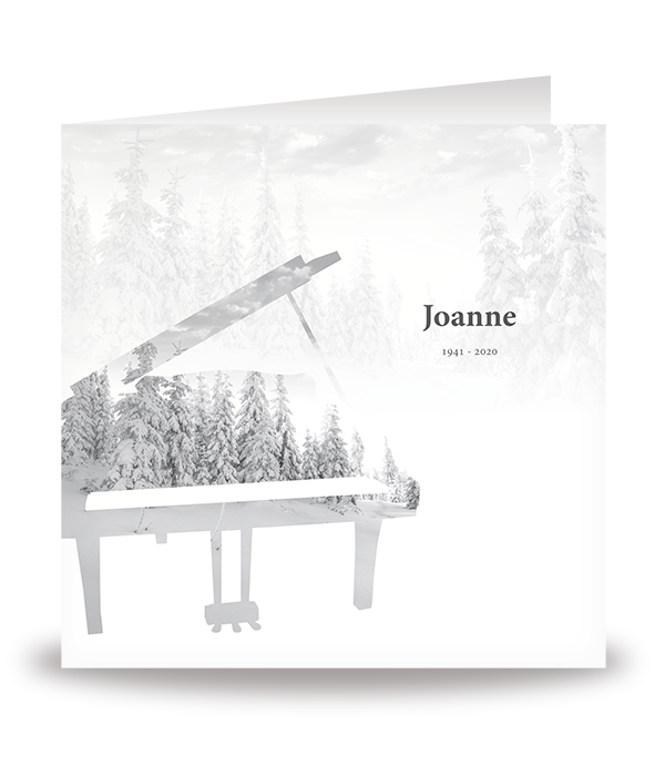 Kaart met bomen in piano 1