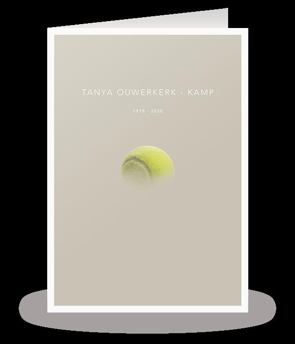Kaart met tennisbal 1
