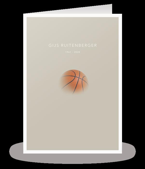 Kaart met basketbal 1