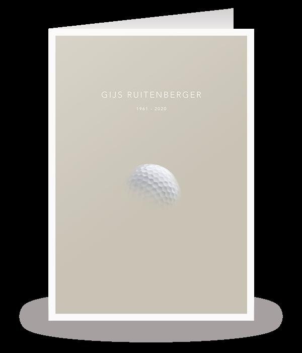 Kaart met golfbal 1