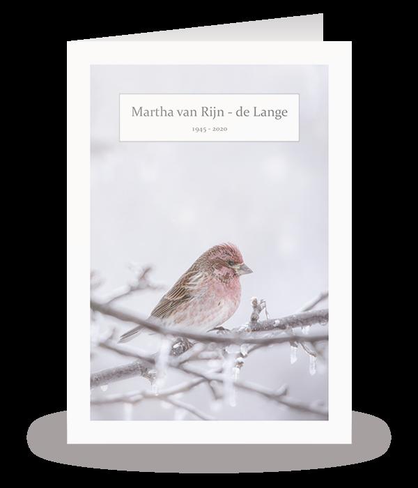 Kaart met winterse vogel 1