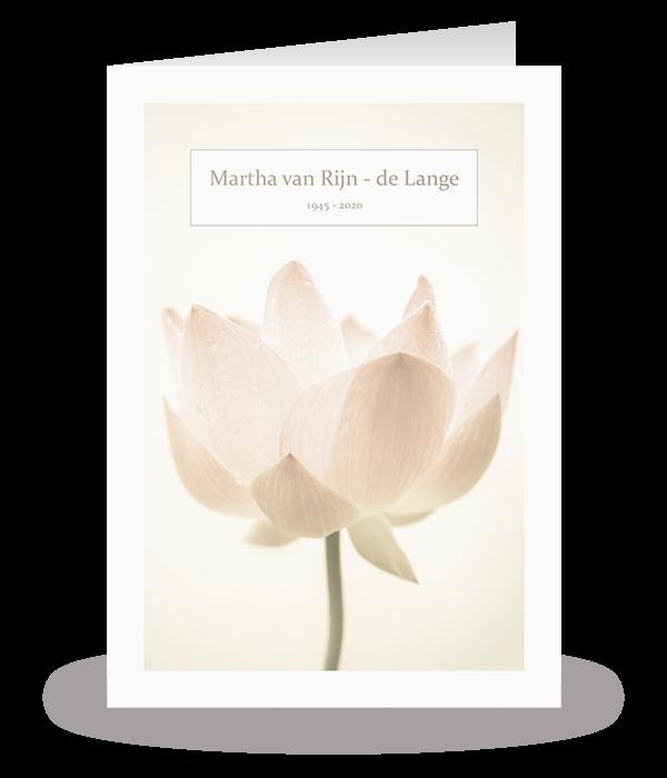 Kaart met lotus 1