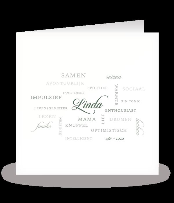 Kaart met typografie 1