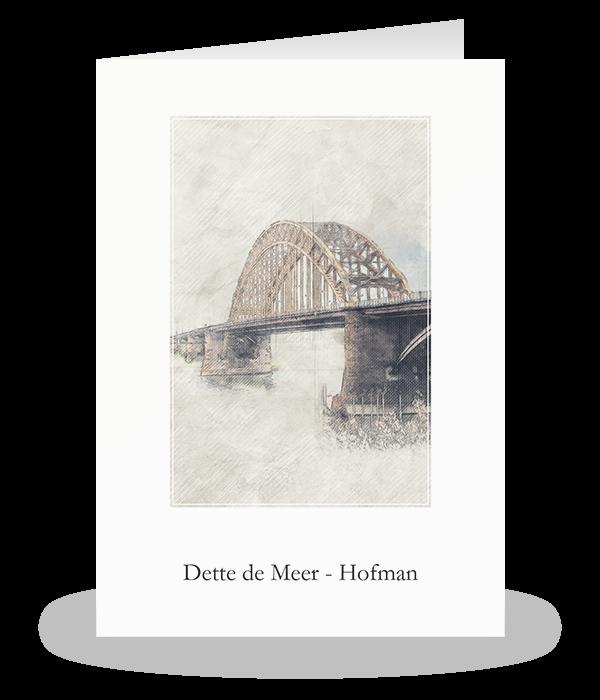 Waalbrug Nijmegen schets 1