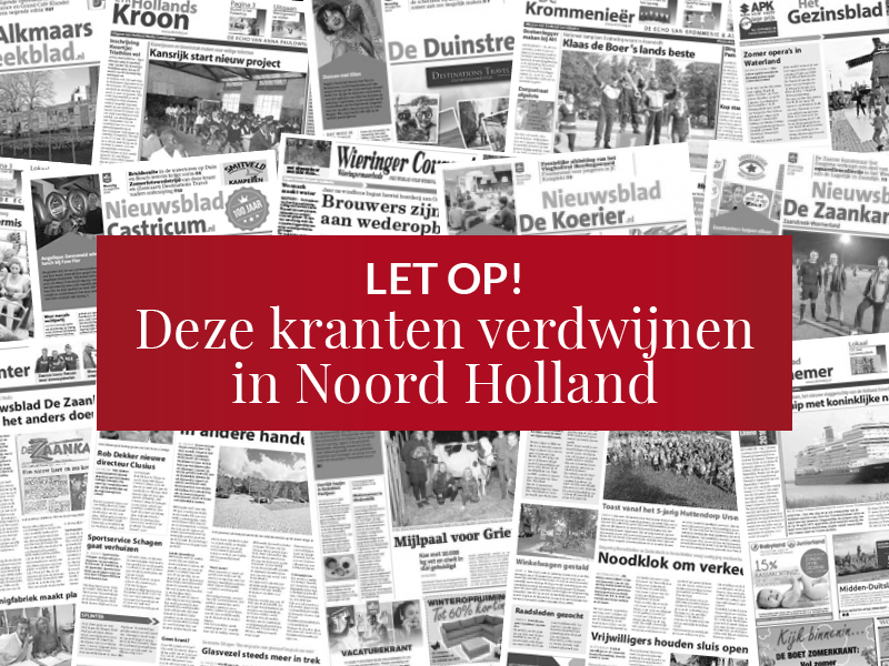 15 huis-aan-huis titels verdwijnen per direct in Noord Holland