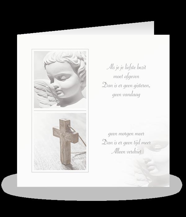 Engel met een houten kruis 1