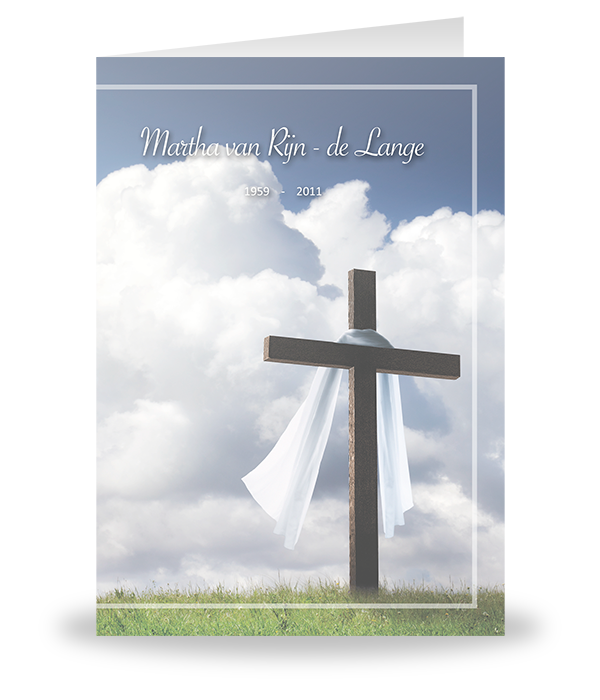 Spiksplinternieuw Houten kruis op gras - Rouwmedia GG-32