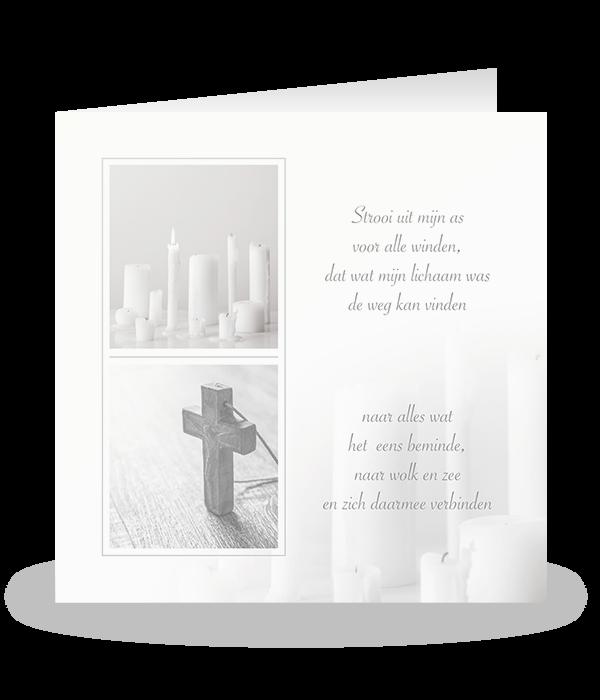 Kaarsenplateau met een kruis 1