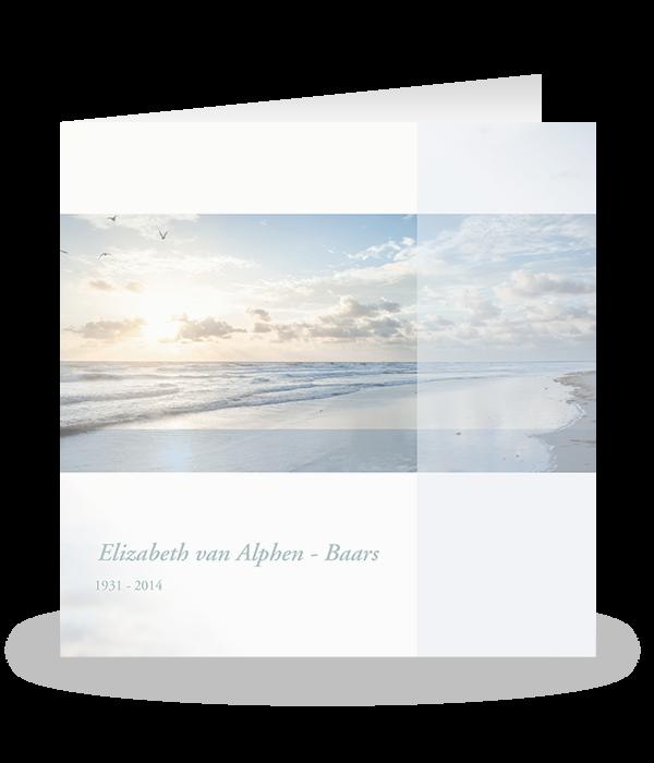 Rouwkaart natuurlandschap de kust 1